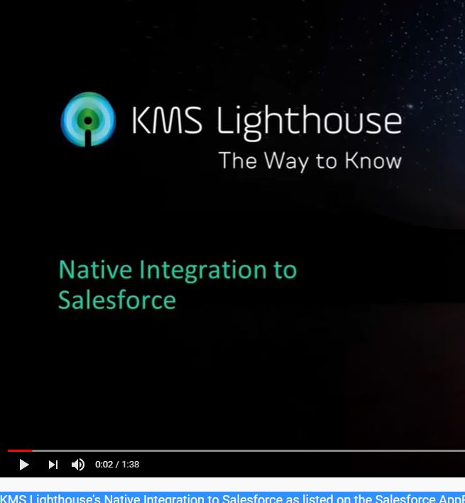 KMS Lighthouse's Native Integration to Salesforce