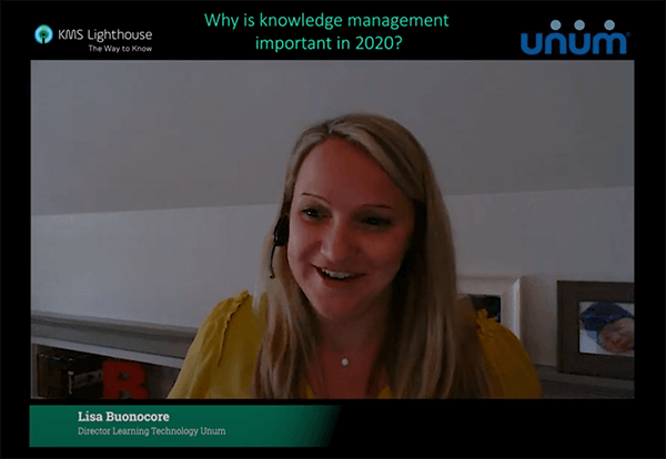 Lisa Buonocore, Director Learning Technology at Unum on the Importance of Knowledge Management in 2020